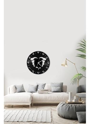 Angemiel Home İkizler Burç Pleksi Duvar Saati Siyah